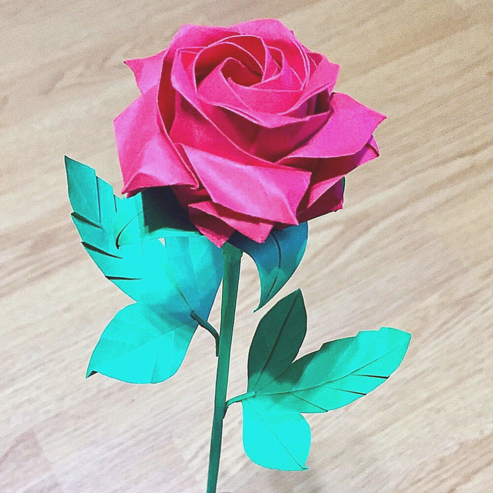origami pentagon rose paper flower valentine wedding