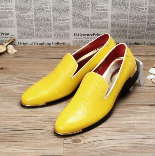 mens slip on pointed toe stylish loafers dress formal