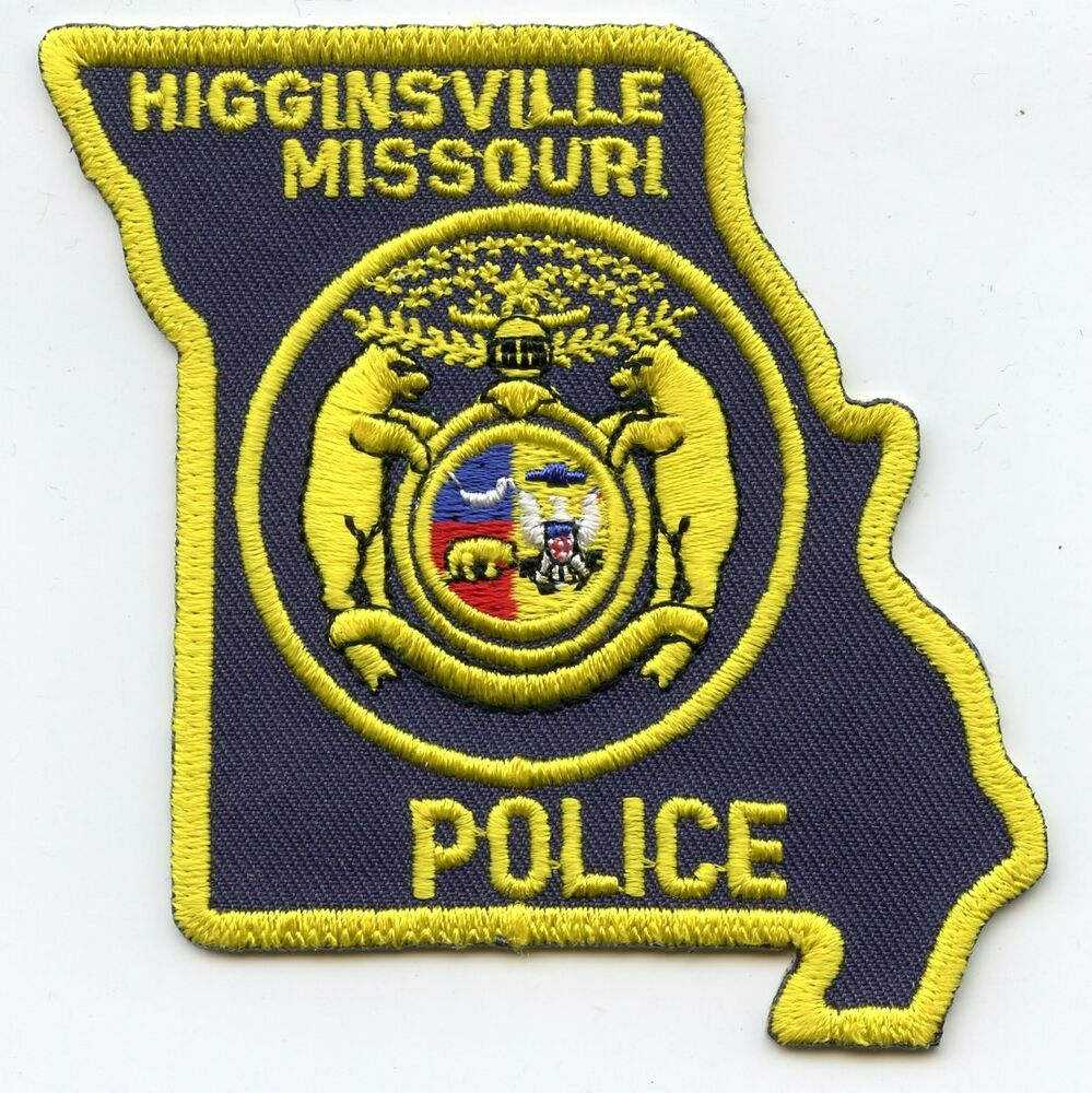 HIGGINSVILLE MISSOURI MO State Shape Shaped POLICE PATCH
