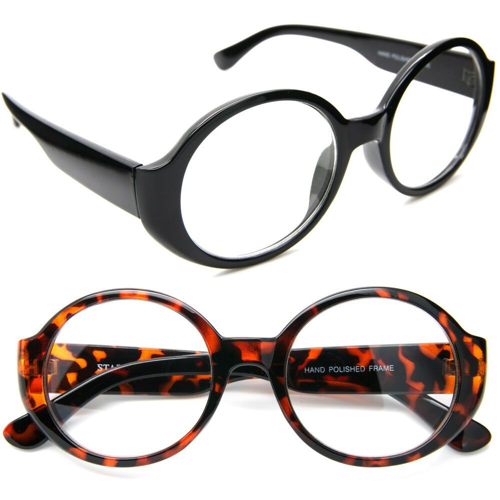 7cf5e749d10 Details about 50 s Round Oval Clear Lens Eyeglasses Vintage Retro Thick  Frame Women Glasses