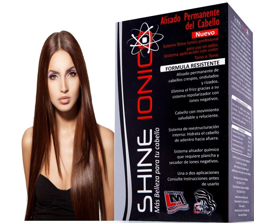 Hair Permanent Straightener System Shine Ionic Lm Negative
