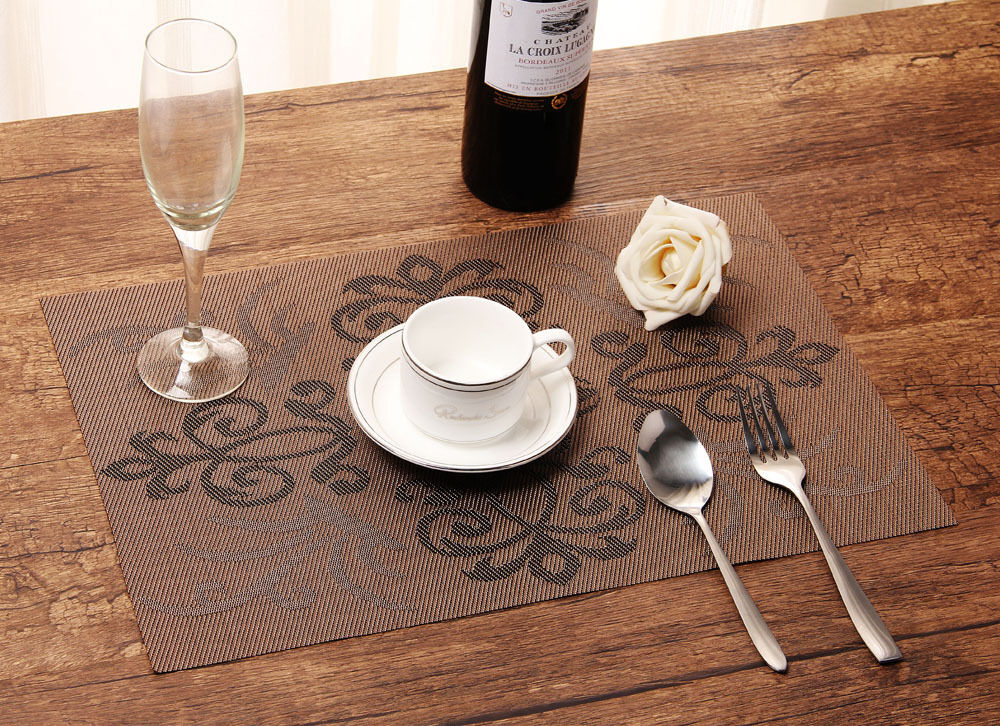 placemats insulation mat table coasters kitchen dining room brown