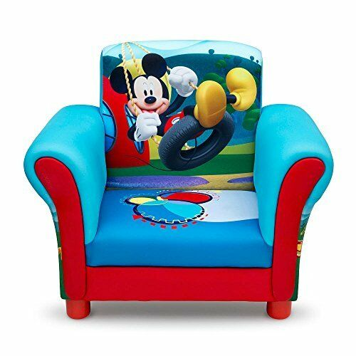 Kids Upholstered Chair Mickey Mouse Toddler Armchair Seat