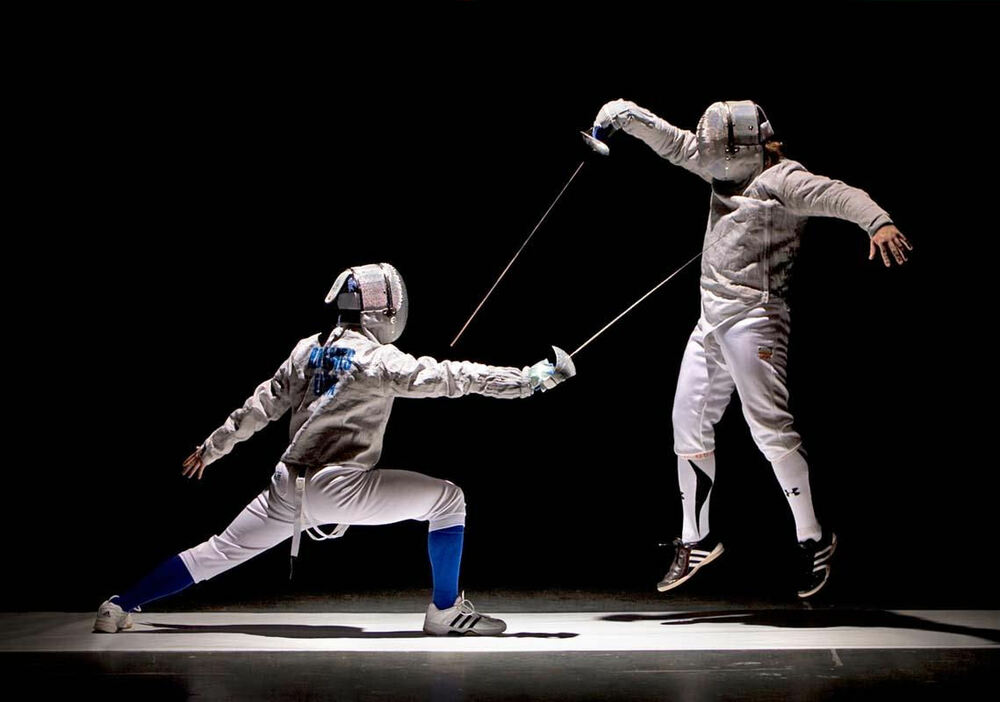 Framed Print Fencing Sword Fighting Picture Poster