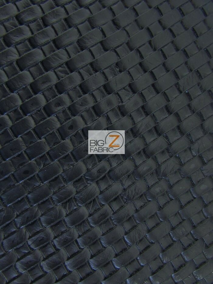 Lattice Basket Weave Upholstery Vinyl Fabric Black By