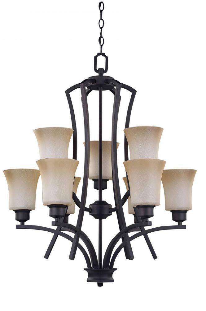 oil rubbed bronze chandelier new canarm flamenco rubbed bronze 9 light chandelier 28615
