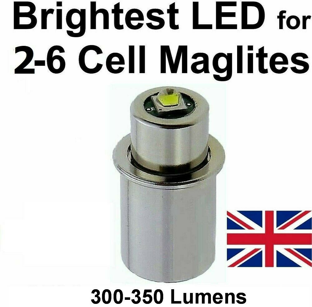 maglite led upgrade conversion bulb cree 3 to 6 d c cell. Black Bedroom Furniture Sets. Home Design Ideas