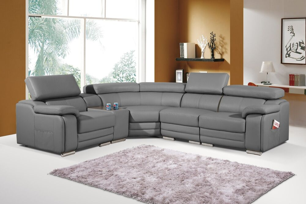 dakota grey bonded leather corner sofa left hand ebay. Black Bedroom Furniture Sets. Home Design Ideas