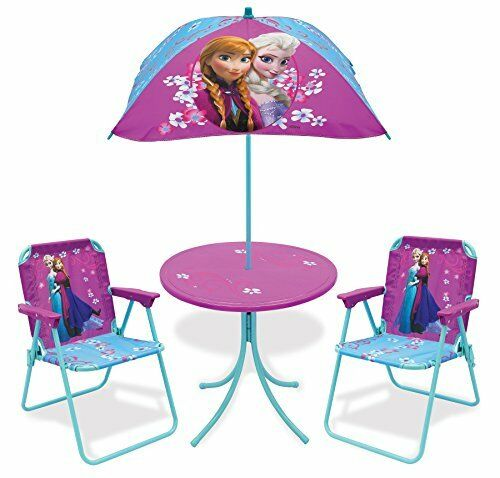 Kids Outdoor Patio Set Toddler Table Chair Umbrella Girls