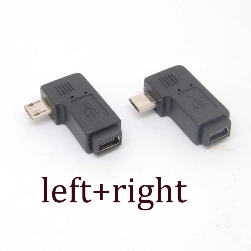 90 degree left right angle adapter micro usb type a b male to mini usb female ebay. Black Bedroom Furniture Sets. Home Design Ideas