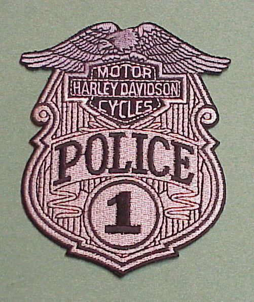 HARLEY DAVIDSON MOTOR CYCLES #1 POLICE PATCH FREE SHIPPING