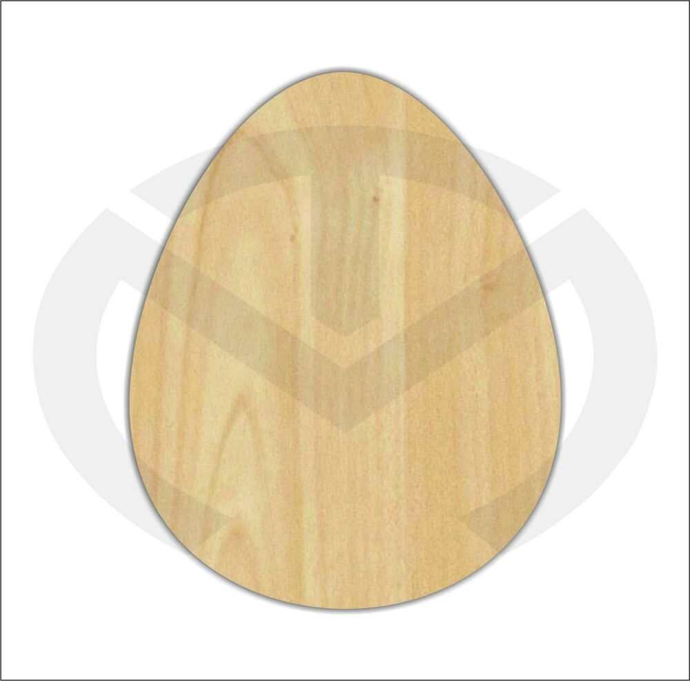 Unfinished Wood Easter Egg Smaller Laser Cutout Wreath
