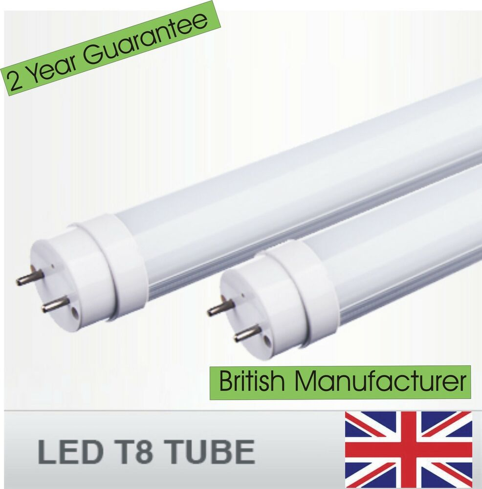 led t8 tube 2 3 4 5 6 8ft fluorescent replacement ebay. Black Bedroom Furniture Sets. Home Design Ideas