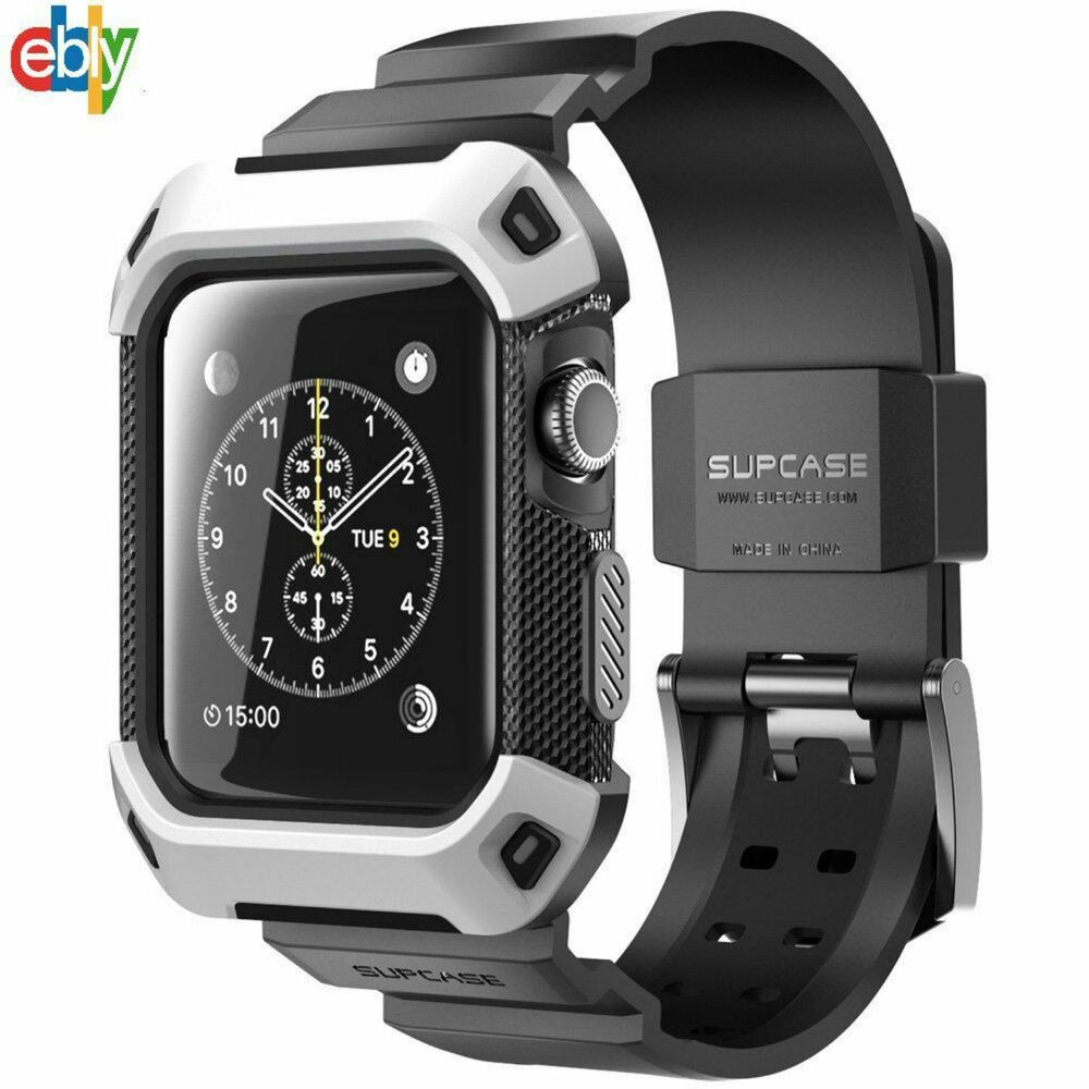 Apple Watch case 42mm hard cover with slim Strap Bands
