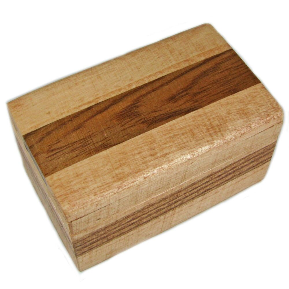 Wooden Decorative Boxes: Decorative Small Wood Trinket Box With A Striped Pattern