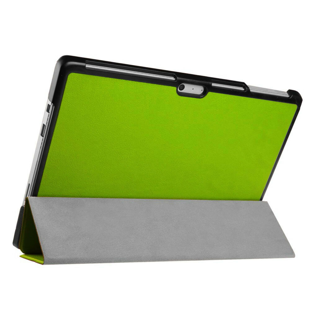 coque pour microsoft surface pro 4 12 3 in housse de protection sac pochette folio vert ebay. Black Bedroom Furniture Sets. Home Design Ideas