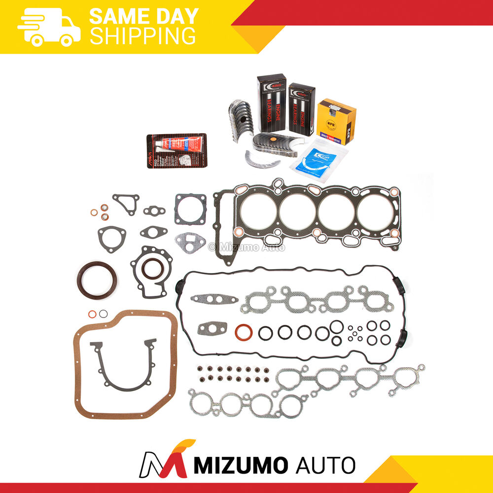 Full Gasket Set Bearings Rings Fit 91-94 Nissan NX Sentra