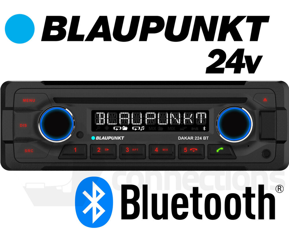 blaupunkt dakar 224 bt 24v radio cd player with bluetooth. Black Bedroom Furniture Sets. Home Design Ideas