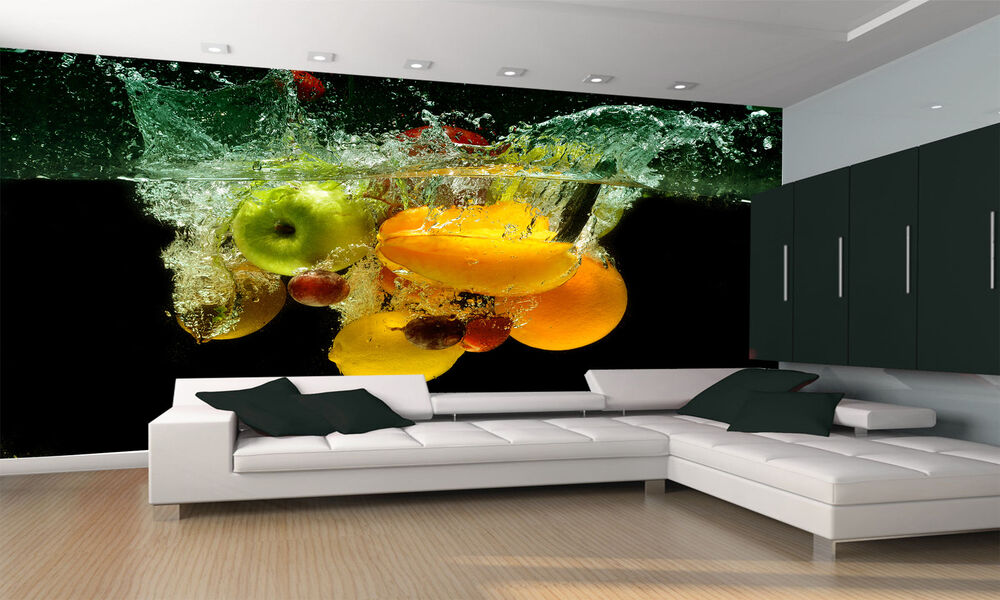 Fresh fruit and vegetables wall mural photo wallpaper - Photo decoration on wall ...