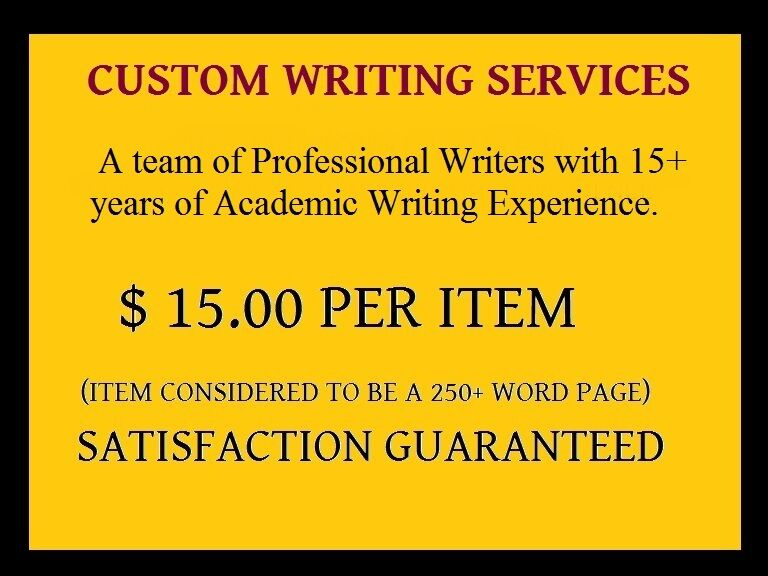 Custom writing services