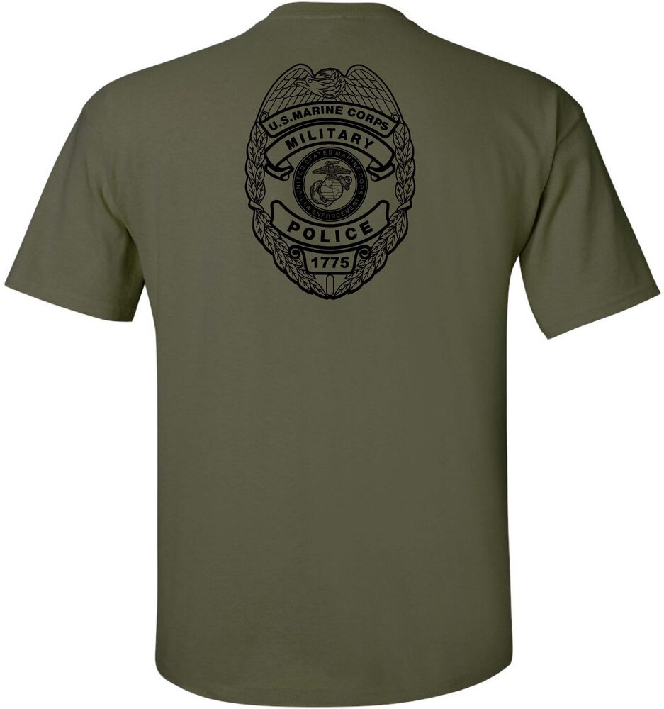 Usmc united states marine corps military police t shirt for Custom military unit t shirts