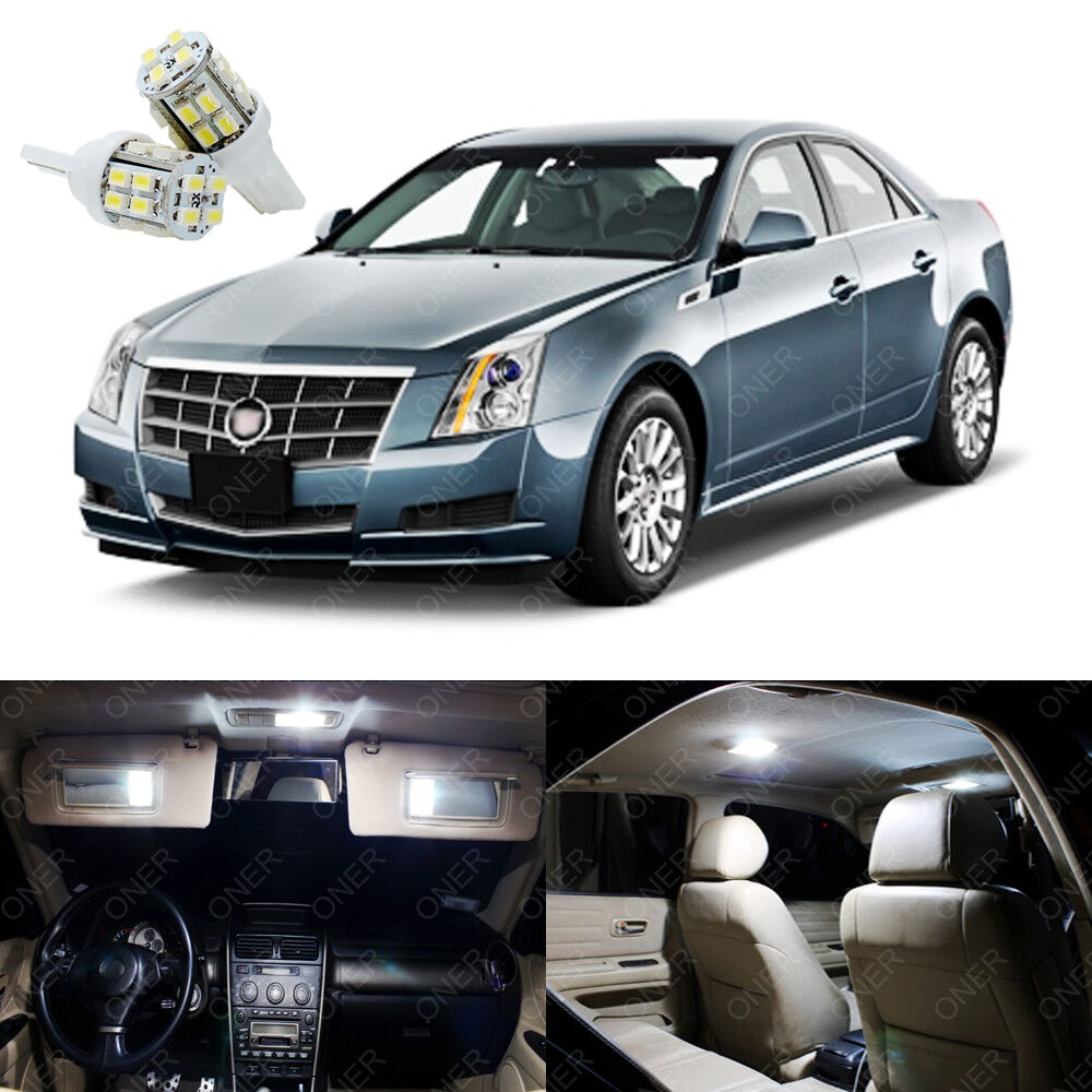 15 X Xenon White LED Interior Lights Package For Cadillac