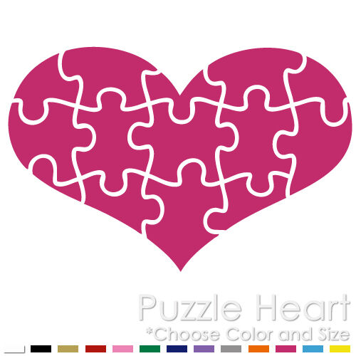Autism Awareness Puzzle Heart Support Love Real People