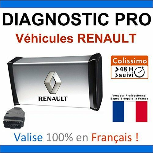 valise de diagnostic pro pour renault mpm com autocom delphi can clip ebay. Black Bedroom Furniture Sets. Home Design Ideas