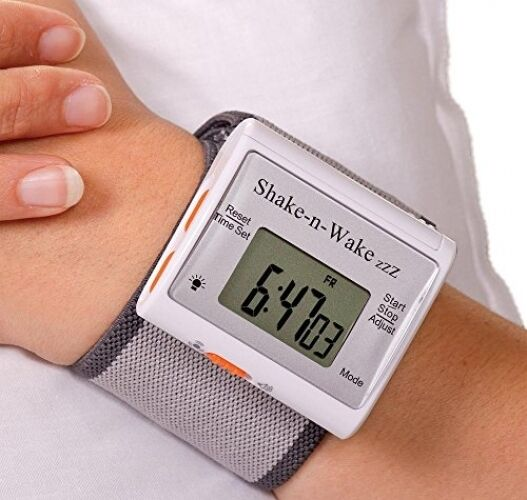 giant wrist alarm clock vibrating wake wrist wristwatch travel clocks elderly ebay. Black Bedroom Furniture Sets. Home Design Ideas