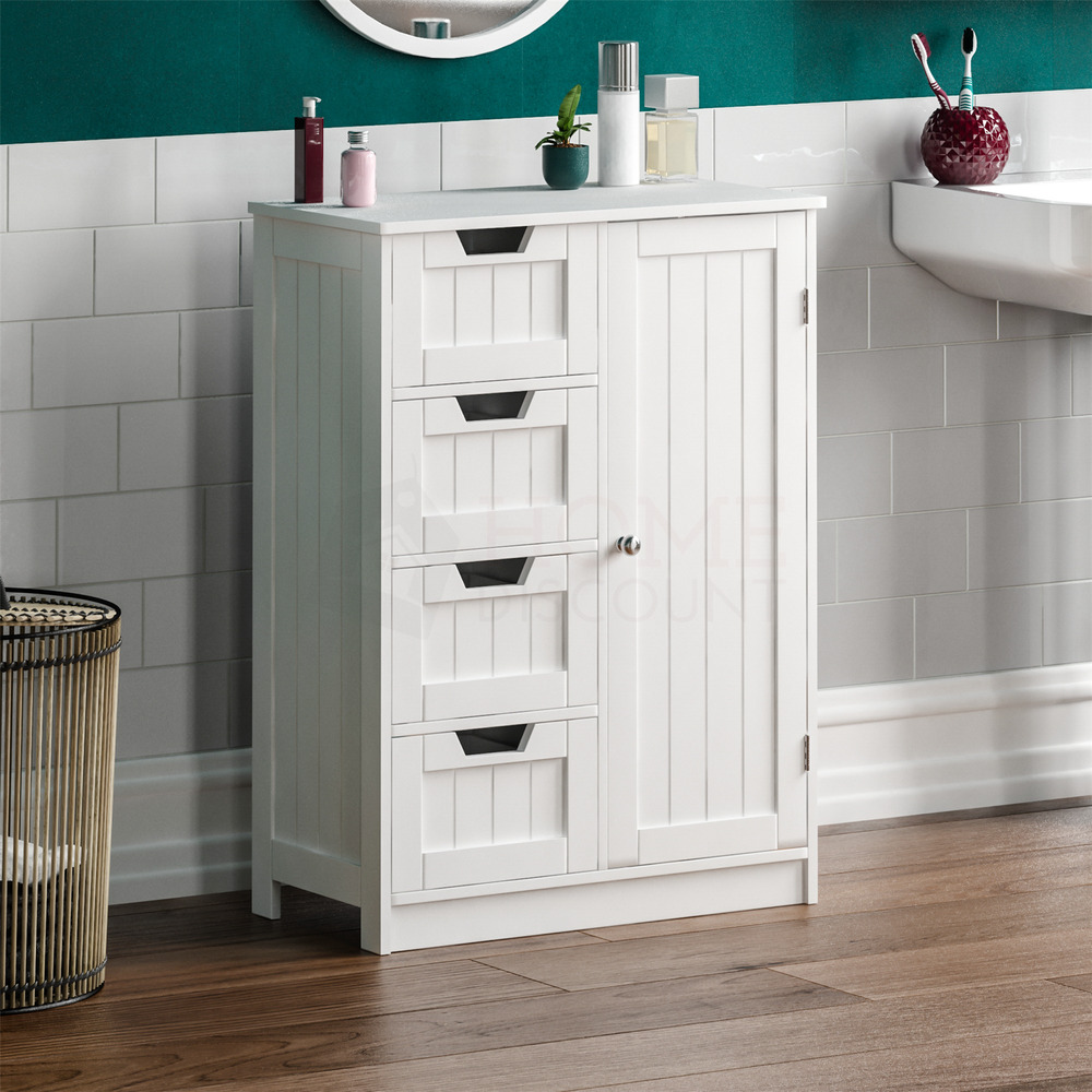 discount bathroom storage cabinets bathroom 4 drawer cabinet door storage cupboard wooden 14743