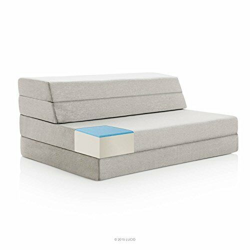 Folding Bed Guest Mattress and Sofa 4 Inch Removable