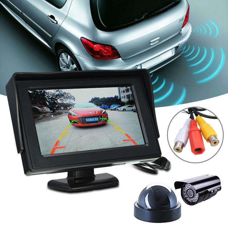 hd 4 3 inch lcd video security tester cctv camera test fpv snow monitor w cable ebay. Black Bedroom Furniture Sets. Home Design Ideas