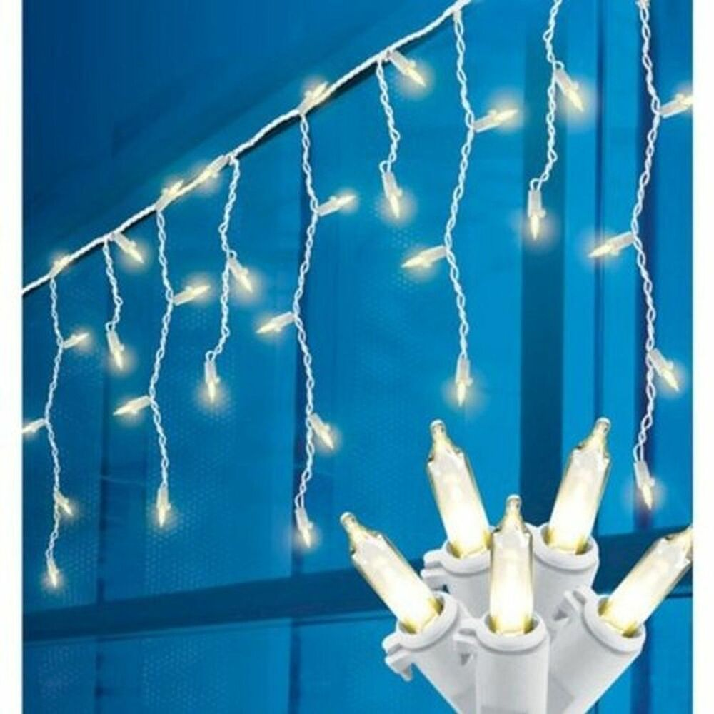 New 70ct Philips Led Icicle Lights Warm White Indoor