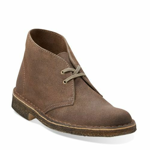 clarks originals desert boot women taupe distressed suede