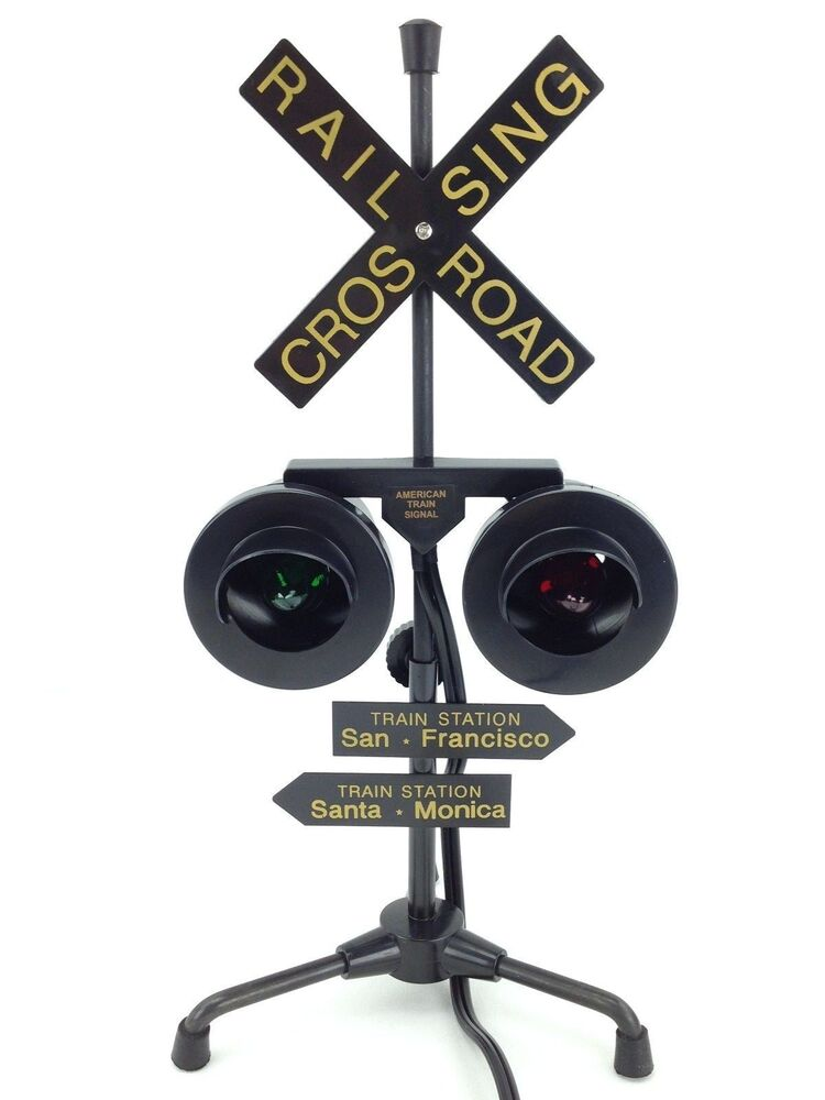 Railroad Crossing Light Signal 13 Flashing Green Amp Red