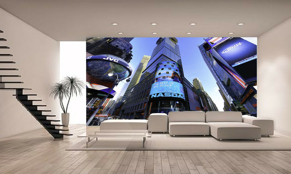 Photo wallpaper the nasdaq stock market giant wall decor for Decor market reviews