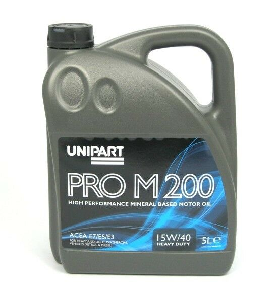 Unipart 15w40 mineral engine motor oil prom200 5 litre ebay for Types of motor oil weight
