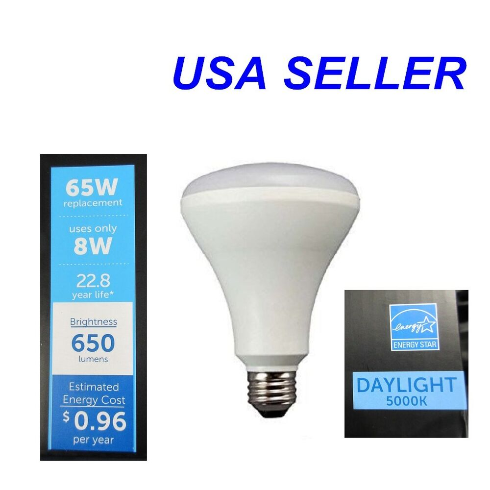 Indoor Flood Light Bulb 65W Watt LED BR30 Lamp Bulb