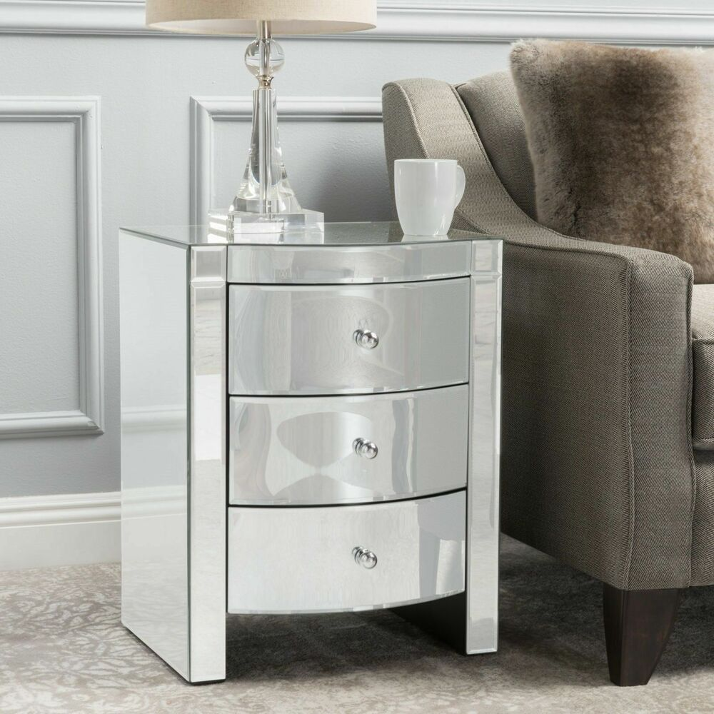 Bedroom Furniture Jacinda Modern Design 3-Drawer Mirror