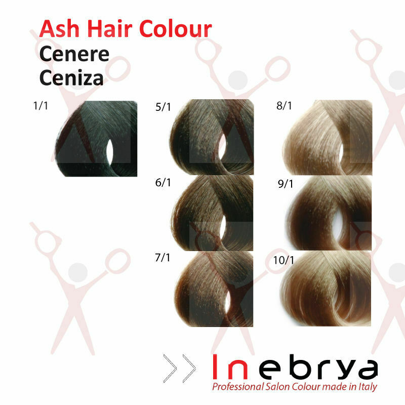 Inebrya Professional Permanent Hair Colour Dye Ash Colours