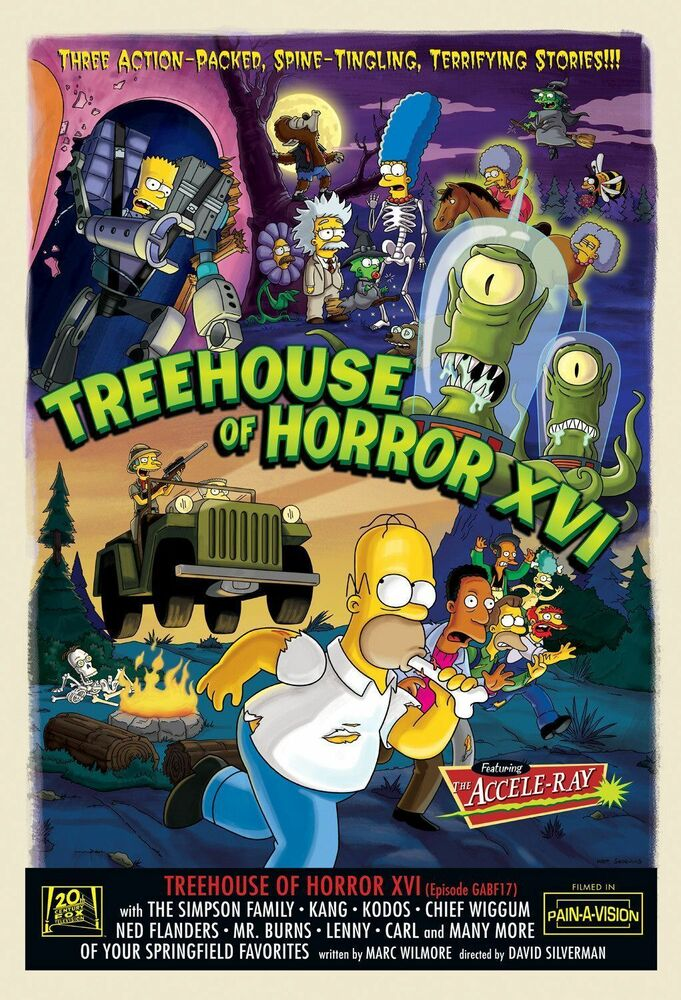 THE SIMPSONS TV Show Poster Treehouse of Horror RARE   eBay