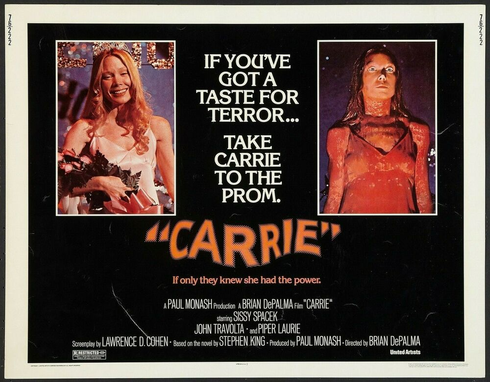 CARRIE Movie Poster 1976 RARE Horror Brian DePalma | eBay