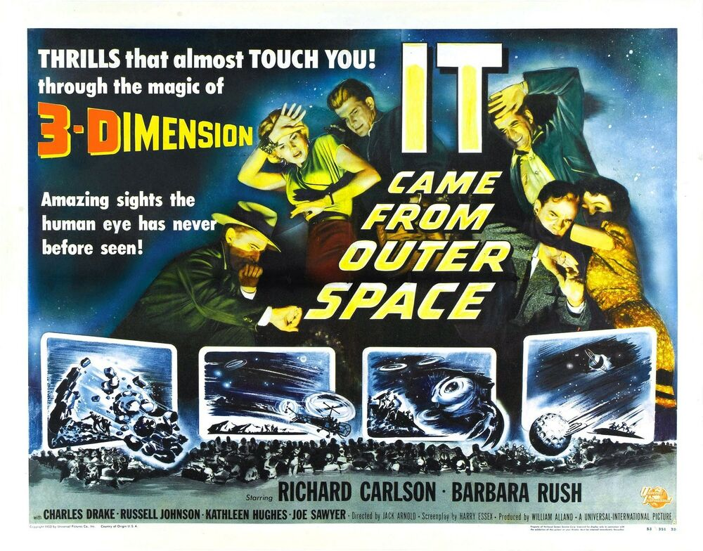 It came from outer space movie poster rare sci fi monster for Watch it came from outer space