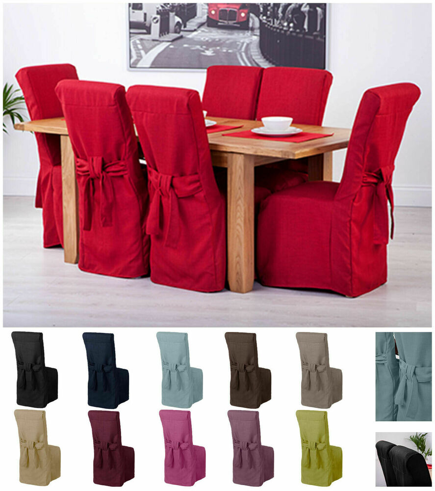 Fabric Slipcovers for Scroll Top High Back Leather Oak Dining Chairs Seat Covers | eBay
