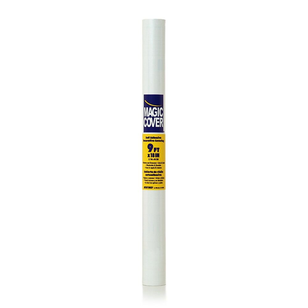 White Contact Paper 18 Quot X 9 Feet Self Adhesive Shelf Liner