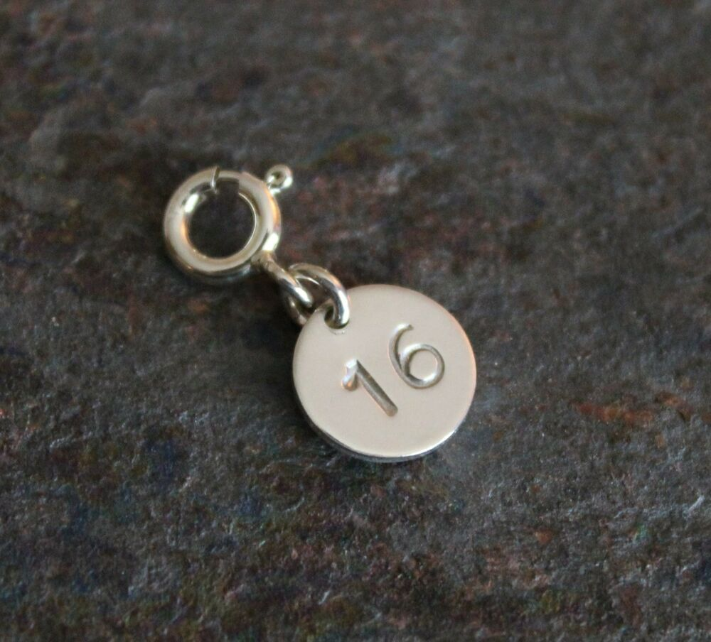 personalized number charm 1 60 available 925