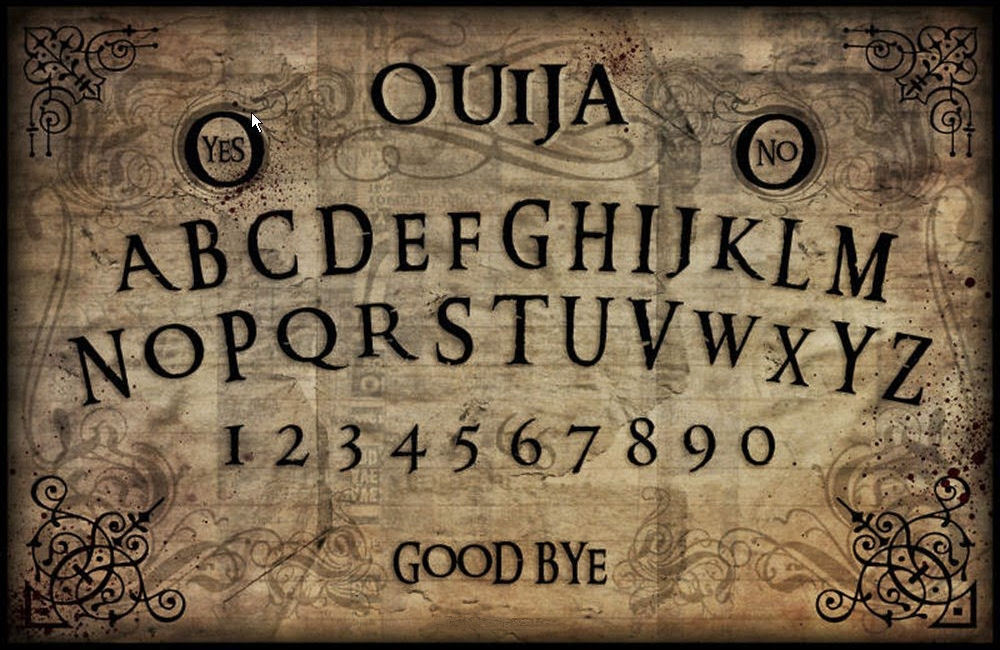 It is a photo of Légend Printable Ouija Board