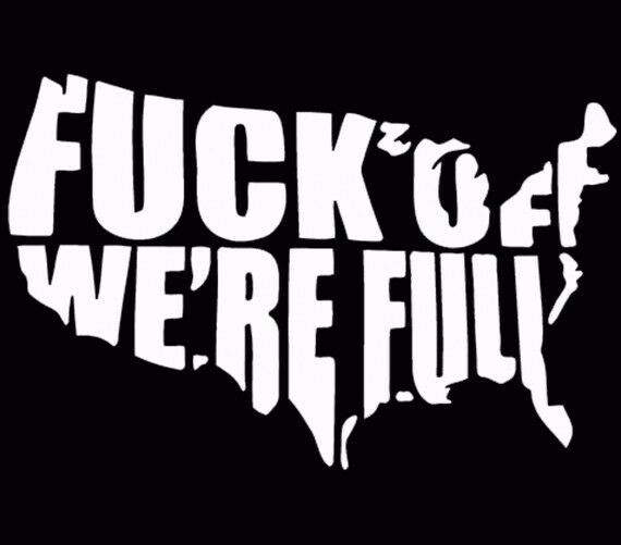 F Ck Off We Re Full Usa United States Window Decal Truck