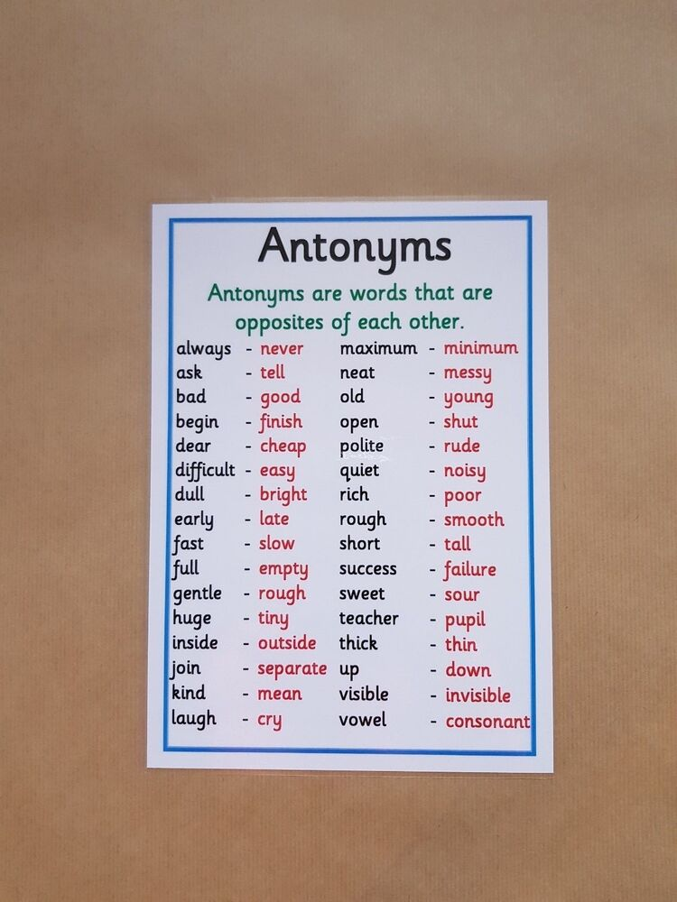 Teaching antonyms ks2
