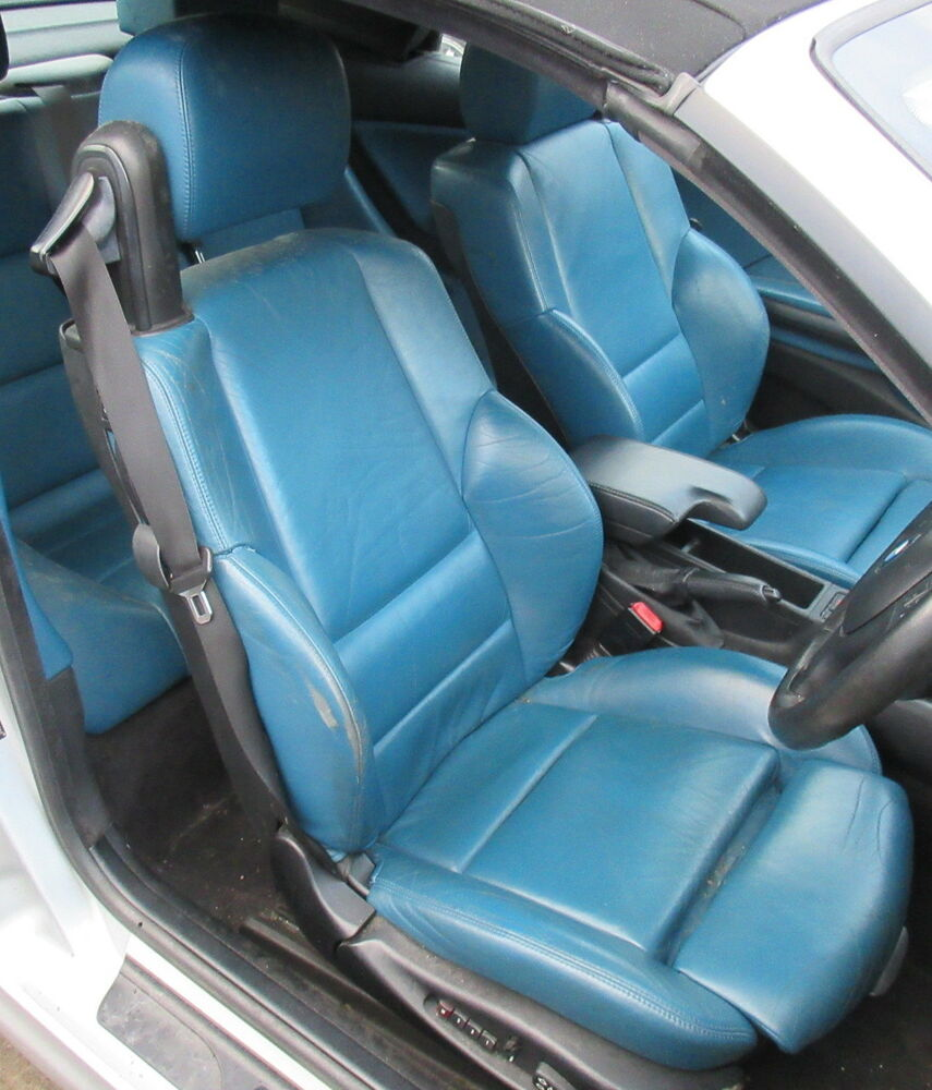 Genuine Used M Sport Blue Leather Interior For BMW E46 M3
